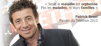 Patrick Bruel Parrain du Téléthon 2013
